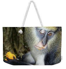 Monkey With His Mango Weekender Tote Bag