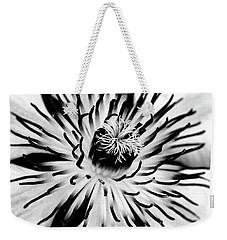 Mono Clematis Weekender Tote Bag