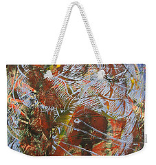 Mono Print 002 - Elephant In Misty Jungle Weekender Tote Bag