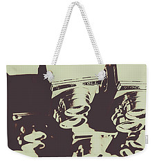 Monochromatic Antique Cameras And Photos Weekender Tote Bag