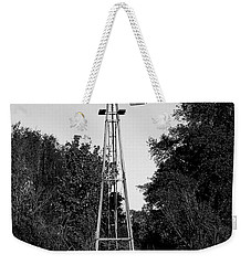Monochrome Abandoned Windmill Whisper Windmill   Weekender Tote Bag