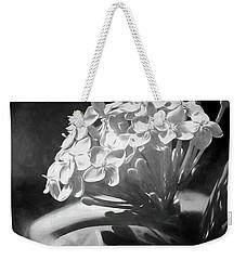 Monochrome Flora Weekender Tote Bag