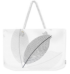 Monochrome Leaves Weekender Tote Bag
