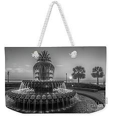 Monochrome Pineapple Weekender Tote Bag