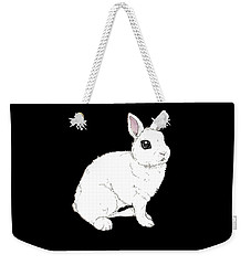 Monochrome Rabbit Weekender Tote Bag by Katrina Davis