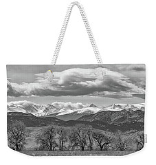Monochrome Rocky Mountain Front Range Panorama Range Panorama Weekender Tote Bag by James BO Insogna