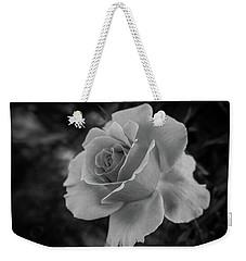 Monochrome Rose Macro Weekender Tote Bag