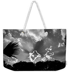 Monochrome Sunburst Weekender Tote Bag by Eric Liller
