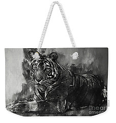 Monochrome Tiger Weekender Tote Bag