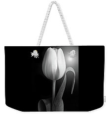 Monochrome Tulip Portrait Weekender Tote Bag by Terence Davis