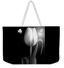 Monochrome Tulip Portrait Weekender Tote Bag by Terence Davis