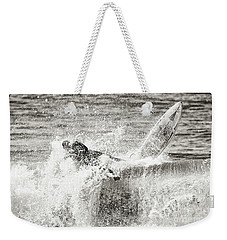 Monochrome Wipeout Weekender Tote Bag by Nicholas Burningham