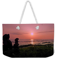Weekender Tote Bag featuring the photograph Monoliths At Sunset by Lori Seaman