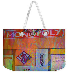 Weekender Tote Bag featuring the mixed media Monopoly Dream by Kevin Caudill