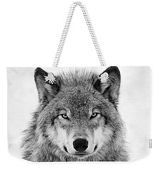 Monotone Timber Wolf  Weekender Tote Bag