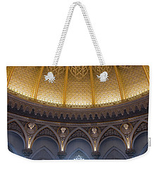 Weekender Tote Bag featuring the photograph Monserrate Palace Room by Carlos Caetano