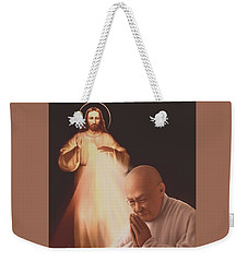 Weekender Tote Bag featuring the painting Monsignor Blacet by Dave Luebbert