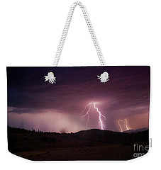 Monsoon Lightning Weekender Tote Bag