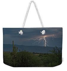 Weekender Tote Bag featuring the photograph Monsoon Lightning by Dan McManus
