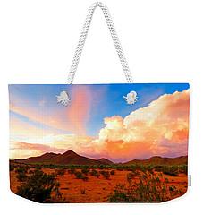 Monsoon Storm Sunset Weekender Tote Bag
