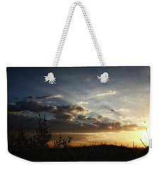 Weekender Tote Bag featuring the photograph Monsoon Sunset 2016 by Elaine Malott