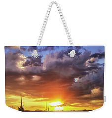 Monsoon Sunset Weekender Tote Bag