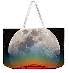 Monster Moonrise Weekender Tote Bag by Larry Landolfi
