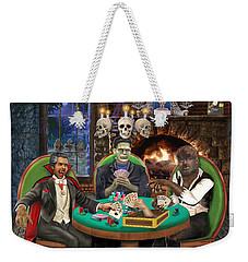 Monster Poker Weekender Tote Bag by Glenn Holbrook