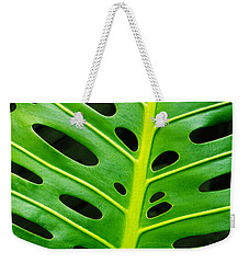Monstera Leaf Weekender Tote Bag by Carlos Caetano