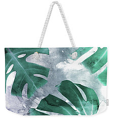 Monstera Theme 1 Weekender Tote Bag by Emanuela Carratoni