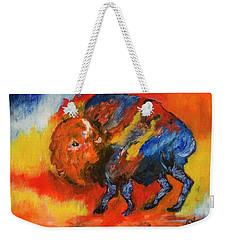 Montana Bison Weekender Tote Bag