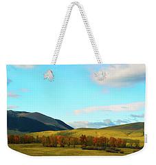 Montana Fall Trees Weekender Tote Bag