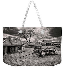 Weekender Tote Bag featuring the photograph Montana Ghost Town by Scott Read