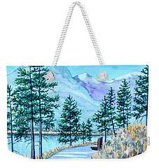 Montana Lake Como With Bench Weekender Tote Bag