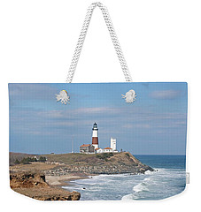 Montauk Lighthouse View From Camp Hero Weekender Tote Bag