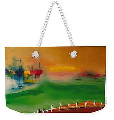 Montauk Marina Weekender Tote Bag