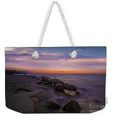 Montauk Sunset Boulders Weekender Tote Bag