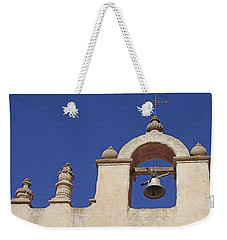 Weekender Tote Bag featuring the photograph Montecito Mt. Carmel Church Tower by Art Block Collections