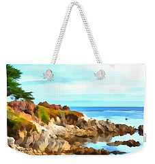 Weekender Tote Bag featuring the photograph Monterey Coastline Watercolor by Floyd Snyder