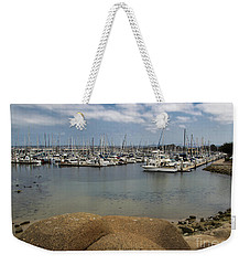 Weekender Tote Bag featuring the photograph Monterey Harbor by Suzanne Luft