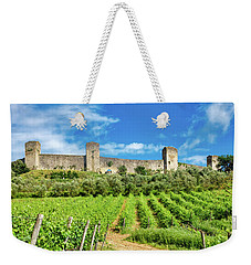 Weekender Tote Bag featuring the photograph Monteriggioni by Fabrizio Troiani