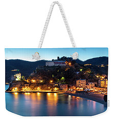 Weekender Tote Bag featuring the photograph Monterosso Al Mare At Twilight by Brian Jannsen