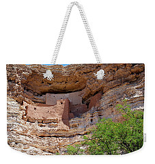 Weekender Tote Bag featuring the photograph Montezuma's Castle by Arthur Dodd