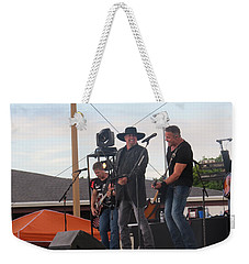 Weekender Tote Bag featuring the photograph Montgomery Gentry by Aaron Martens