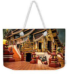 Weekender Tote Bag featuring the photograph Monthian Temple Chiang Mai  by Adrian Evans