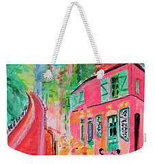 Montmartre Cafe In Paris Weekender Tote Bag