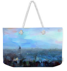 Weekender Tote Bag featuring the painting Montmartre From The Butte by Chris Armytage