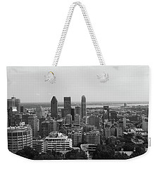 Montreal Cityscape Bw Weekender Tote Bag