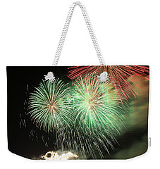 Montreal-fireworks Weekender Tote Bag by Mircea Costina Photography