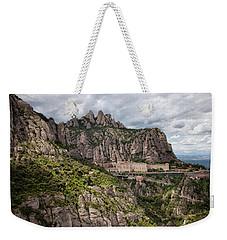 Montserrat Mountains And Monastery In Spain Weekender Tote Bag
